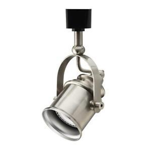 LITHONIA LIGHTING Brush Nickel LTHSPLT MR16GU10 LED 27K BN M4 Track Light~ NEW
