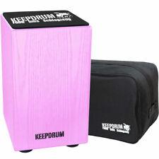 keepdrum DC1M PK Junior Cajon für Kinder Pink  + Tasche + Sitz-Pad