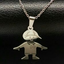 Stainless Steel Chain Baby Boy Son Pendant Necklace