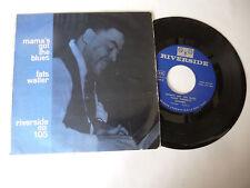 """FATS WALLER""""MAMA'S GOT THE BLUES- disco 45 giri EP RIVERSIDE Usa 1959""""BLUES"""