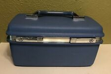 Vintage Samsonite Montbello II Blue Make-Up Case