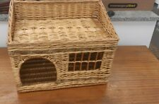 Wicker Cat Or Small Dog House Basket