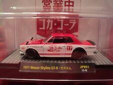"""M2 1971 Nissan Skyline GT-R  """"Coca- Cola"""" w/display case 1/64 scale NIB"""