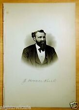 JOHN HORACE KENT Portsmouth, NH Antique Print 1882 Steel Engraving NEW HAMPSHIRE