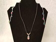 Girls Juniors Womens Multi Color Fashion Dolphin Necklace Bracelet Anklet Set