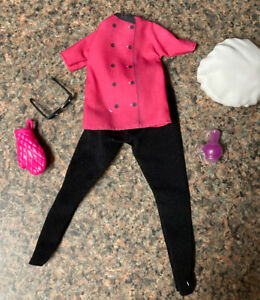 Barbie Doll Careers Clothing Chef Oven Mit Glasses  S1