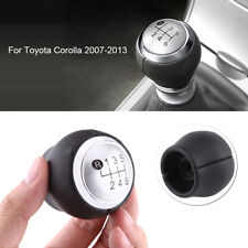 6 Speed Manual Gear Stick Shift Knob For Toyota Corolla 2007-2013 Black & Silver