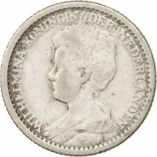 [#406832] Munten, Nederland, Wilhelmina I, 25 Cents, 1914, FR+, Zilver, KM:146