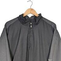 Nike Golf Quarter Zip Windbreaker Jacket Dark Grey & Black Clima-Fit - Size XXL