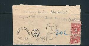 BRITISH GUIANA 1920 KGV cover to NY USA (postage due 4 cents)