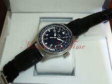 IWC Pilot's Watch Worldtimer 24Timezone Stainless Steel Black Dial 45mm IW326201