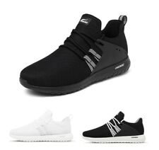 Men Running Rubber Shoes Lace Up Sports Light Soft Black Retro Casual Fashion