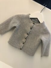 Boden baby Light Grey cashmere cardigan 12-18 m