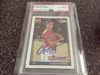 1991 Topps Chipper Jones Rookie Auto