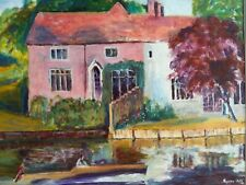 Original colourful framed oil painting 'Summer Time' by Royston Ball ('99)