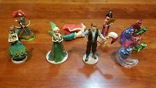 8 Assorted Disney PVC FIgures Cake Toppers - Frozen Ariel Mulan Merida