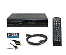 Récepteur terrestre TNT HD - NOUVELLE NORME DVB-T2 H.265 HEVC - Enregistreur USB
