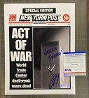 Navy SEAL Robert O'Neill Bin Laden NY Post Twin Towers Print Signed 8x10 PSA