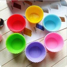 12Pcs Mini Silicone Muffin Chocolate Cupcake Baking Cup Mold Muffin Forms New