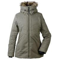 Didriksons Nana Womens Padded Insulated Jacket | Crocodile Green | 250 g/m²