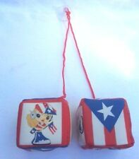 Puerto Rico Flag & Diva Car Mirror 2 Dice BORICUA GIRL BANDERA RICAN HANGING CAR