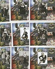 Real Photo Marilyn Monroe Kennedy Apollo Stamp Sheet set of 9 - Chad E94a-i
