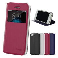 Flip Case iPhone 5 5S SE Magnet Fenster Cover Aufstellbar Ständer Hülle Folie