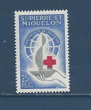 ST PIERRE & MIQUELON - 367 -  MH - 1963 -  CENTENARY OF RED CROSS
