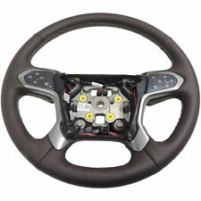 84053918 Steering Wheel Heated Cocoa Leather New OEM GM 2014-17 Silverado 1500