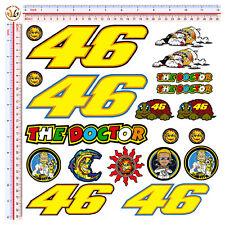 Adesivi auto moto casco valentino rossi the doctor 46 sticker print pvc 20 pz.