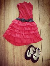 Chad Valley Design a friend / Designafriend Outfit Red Dress With Black Shoes