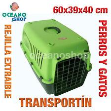 TRANSPORTÍN PERROS Y GATOS CALIDAD REJILLA EXTRAIBLE ASA 60x39x40 cm L546 2033