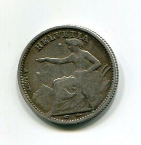 SWISS 1851 1/2 FRANC SCARCE