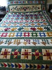 Hand made exceptional quality Queen sz quilt from Nova Scotia