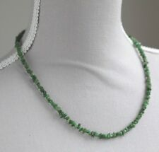"TSAVORITE GARNET NECKLACE WITH 925 STERLING SILVER CLASP 20"" JANUARY BIRTHSTONE"
