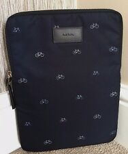 PAUL SMITH NAVY BLUE BICYCLE MOTIF PRINT PADDED iPAD SLEEVE/CASE BNWT