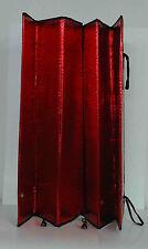 Red Jumbo Metallic Wind Shield Sun Visor/Reflective Shade for Car/SUV/Van