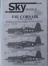 Skymodels 1/72 72049 Vought f4u corsair Décalque Set