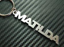 MATILDA Personalised Name Keyring Keychain Key Fob Bespoke Stainless Steel Gift