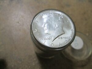 Roll Of 20 UNC BU 1964 D KENNEDY HALF DOLLARS