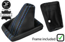 BLUE STITCH LEATHER DSG AUTOMATIC BOOT + PLASTIC FRAME FOR VW PASSAT B8 15-18