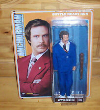 ANCHORMAN RON BURGUNDY BATTLE READY ACTION FIGURE BLUE TAILORED SUIT