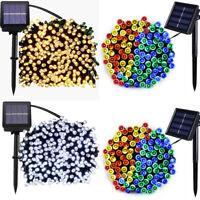 100/200 LED Solar String Lights Outdoor Fairy Lighting Xmas Party Tree Decorate