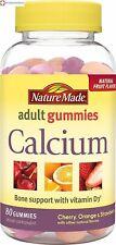 Nature Made Calcium Adult Gummies 80 Count Calcium and Vitamin D