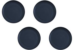 """Matte Blue Sturdy 10"""" Microwave Safe Plates Set of 4 BPA-FREE Dishwasher Safe"""