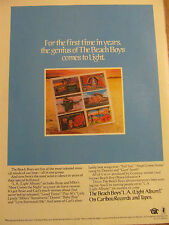 The Beach Boys, L.A., Light Album, Full Page Vintage Promotional Ad
