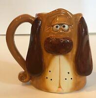 DOUGLAS Puppy Dog Brown Floppy Ears Coffee Mug Tea Cup 3D Ceramic Decorative