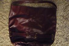 Avon burgandy bucket style purse w handle