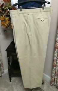 Men's Callaway Cool Summer Sandy Tan Golf Pants Portly 46x28 Prima Cotton Poly