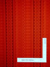 Belgian Geometric Stripe Orng #6711 Cotton Fabric Campbell & Fundora By The Yard